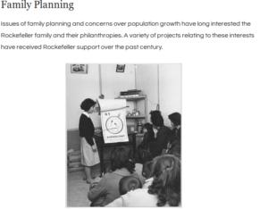 fundação rockfeller investe em controle populacional aborto e anti-concepcional