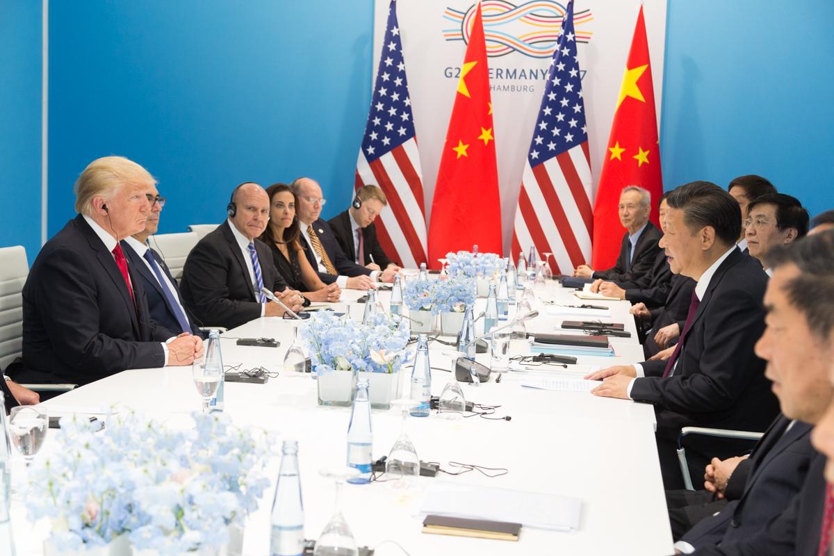Donald Trump e Primeiro Ministro Chinês - Encontro do G20
