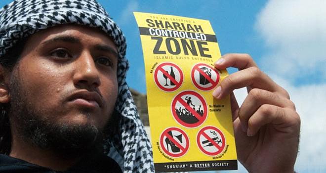Cartaz utilizado para identificar uma 'NO-GO ZONE'