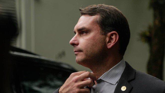 Flávio Bolsonaro, deputado estadual no Rio e senador eleito pelo PSL Foto: Brenno Carvalho / Agência O Globo/25-10-2018
