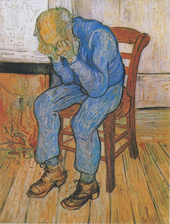 Sorrowing old man. Van Gogh, 1890, óleo sobre tela, 81 x 65 cm