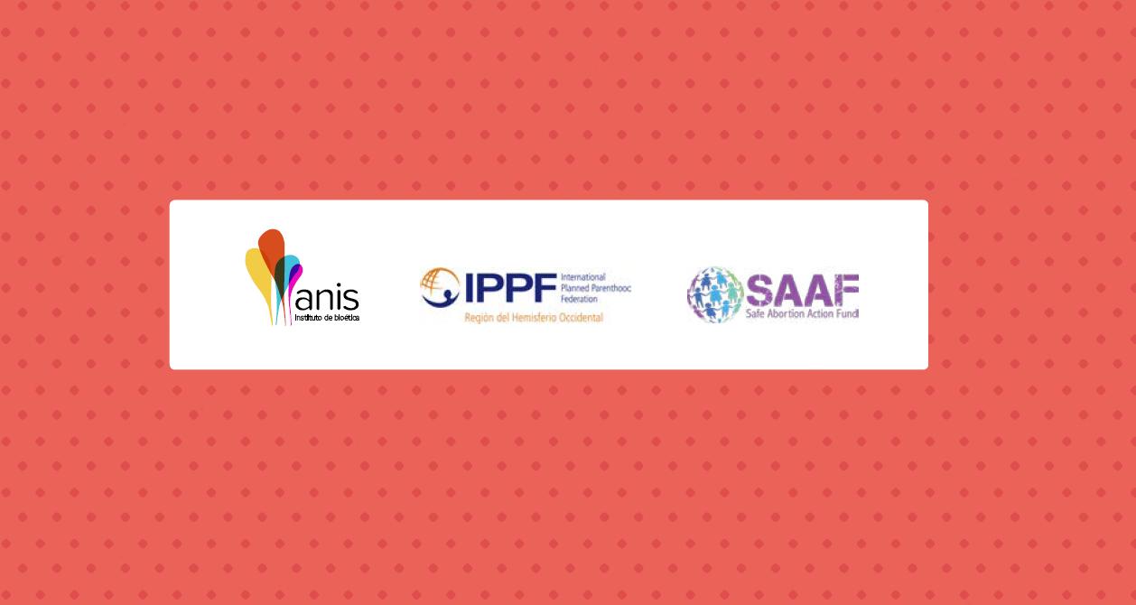 Imagem da página 55 da cartilha da Anis. Destaque para logo da IPPF (clínica de abortos) e SAAF (mega fundo internacional da indústria pró-abortamento).