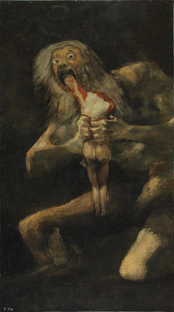 Saturno devorando seu filho. Goya.