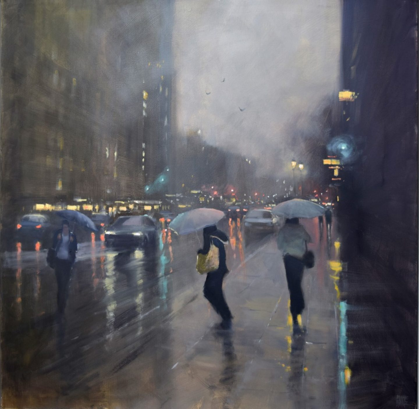 Mike Barr, Rainy-day cityscapes.