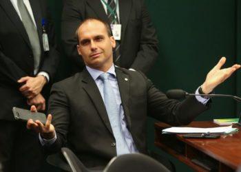 Brasília - O Conselho de Ética da Câmara arquivou duas representações (12/17 e 13/17) contra o deputado Eduardo Bolsonaro (PSC-SP) por quebra do decoro (Fabio Rodrigues Pozzebom/ Agencia Brasil)