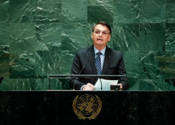 (Nova York - EUA, 24/09/2018) Presidente da República, Jair Bolsonaro, discursa durante a abertura do Debate Geral da 74ª Sessão da Assembleia Geral das Nações Unidas (AGNU). rFoto: Alan Santos/PR