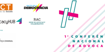 """Imagem: capa do documento """"Programação"""" da 1ª Conferência Advocacy."""