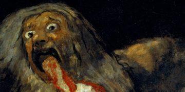 Saturno devorando um filho, de Francisco de Goya.