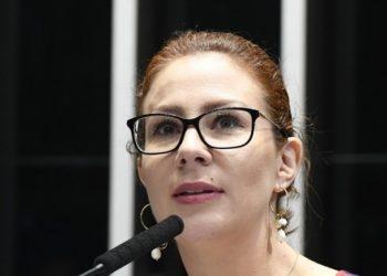 Na foto: Carla Zambelli, PSL. Imagem de Marcos Oliveira/Agência Senado.