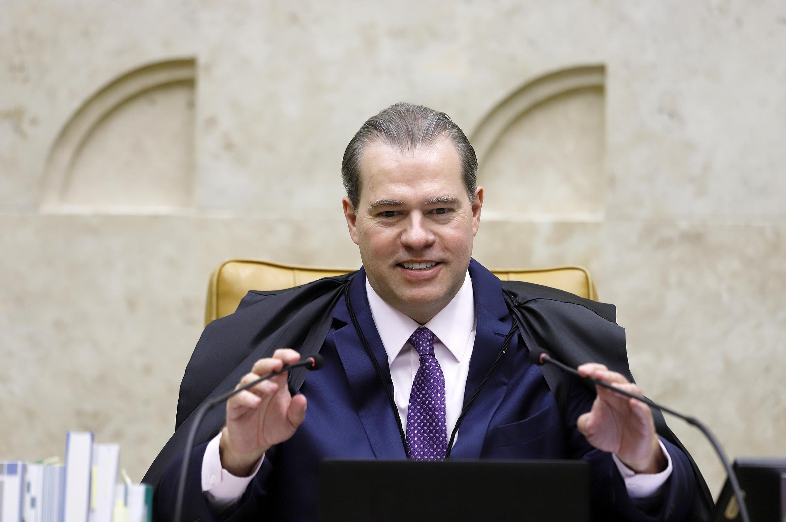 Presidente do STF durante sessão plenária por videoconferência. Foto: Rosinei Coutinho/SCO/STF (15/04/2020)
