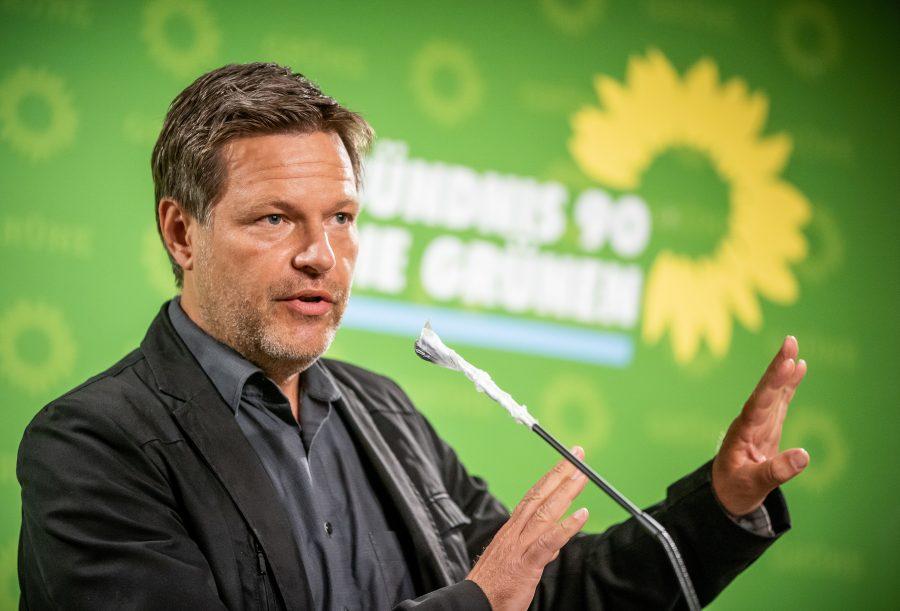 Chefe do Partido Verde,  Robert Habeck (alliance/Michael Kappeler/dpa)