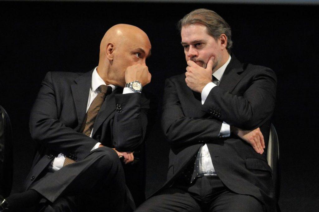 Ministros do STF Alexandre Moraes e Dias Toffoli/ Crédito: Fabio Rodrigues Pozzebom/Agência Brasil.
