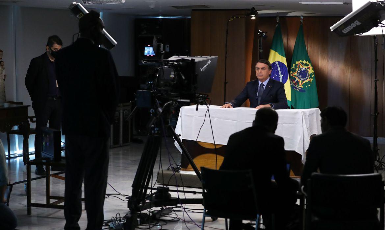 (Brasília - DF, 16/09/2020) Gravação de discurso para a 75ª Assembleia Geral da ONU. Foto: Marcos Corrêa/PR
