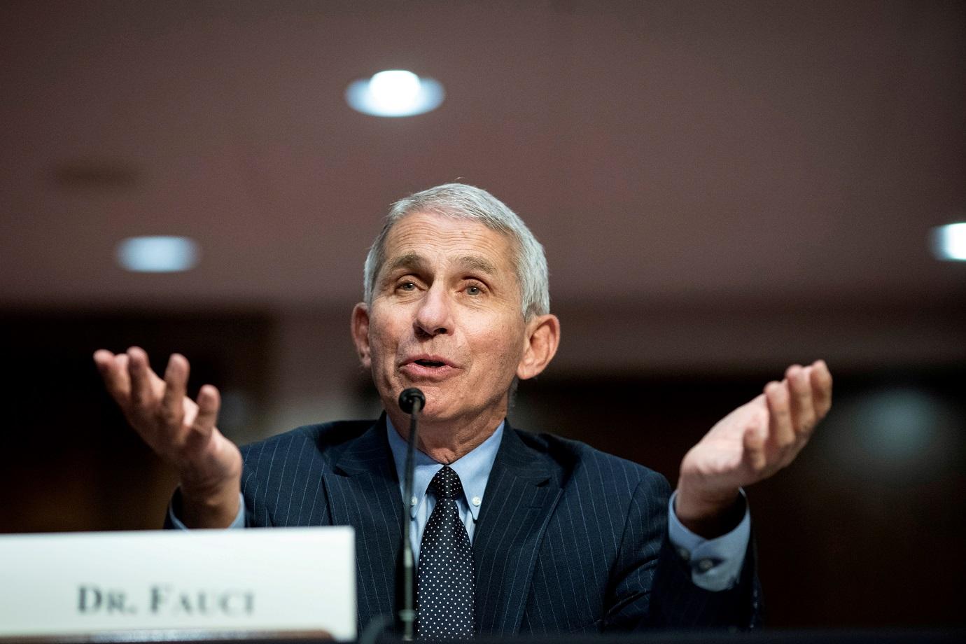 Anthony Fauci durante audiência no Senado dos EUA 30/06/2020 Al Drago/Pool via REUTERS